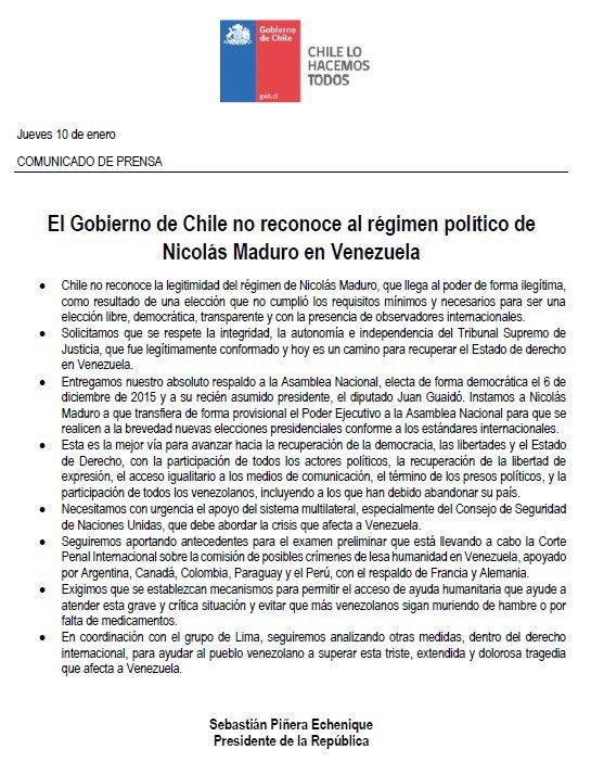 Prensa Presidencia de Chile's photo on Nicolás Maduro