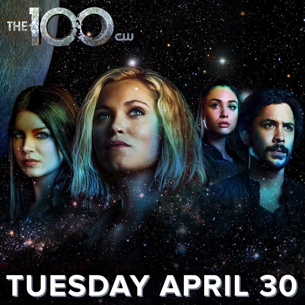 Incoming message: #The100 returns Tuesday, April 30 on The CW! https://t.co/crpM27jKnW