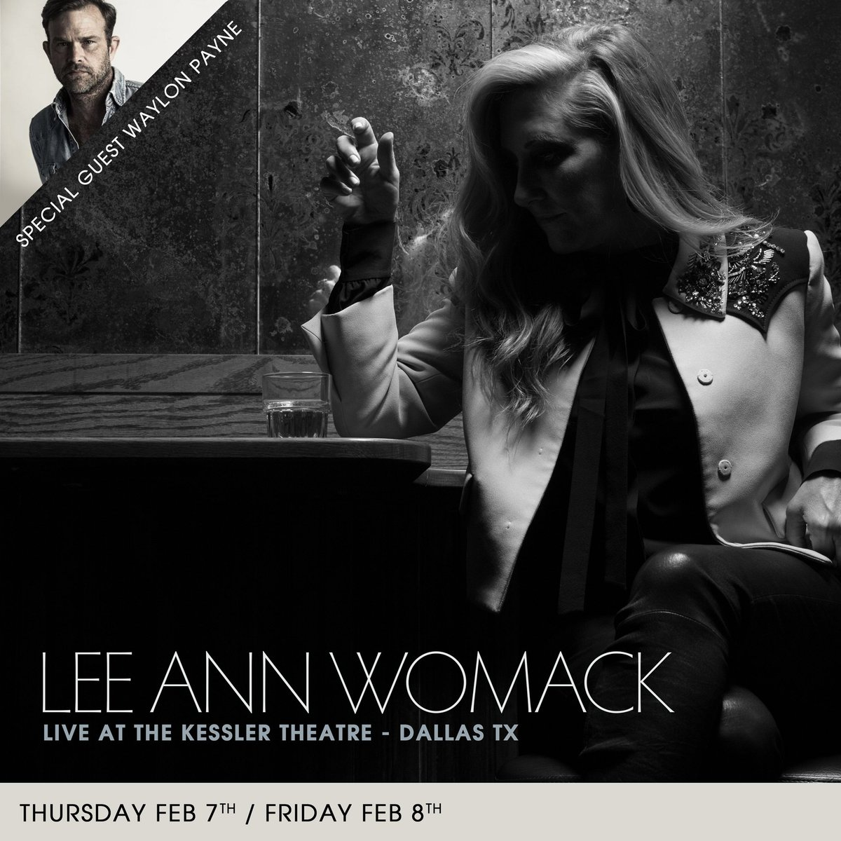 Dallas, I'm headed your way for two nights at @KesslerTheater in February with special guest, @WaylonPayne!  February 7 - http://bit.ly/2SUNbqQ  February 8 - http://bit.ly/2H5WS4w
