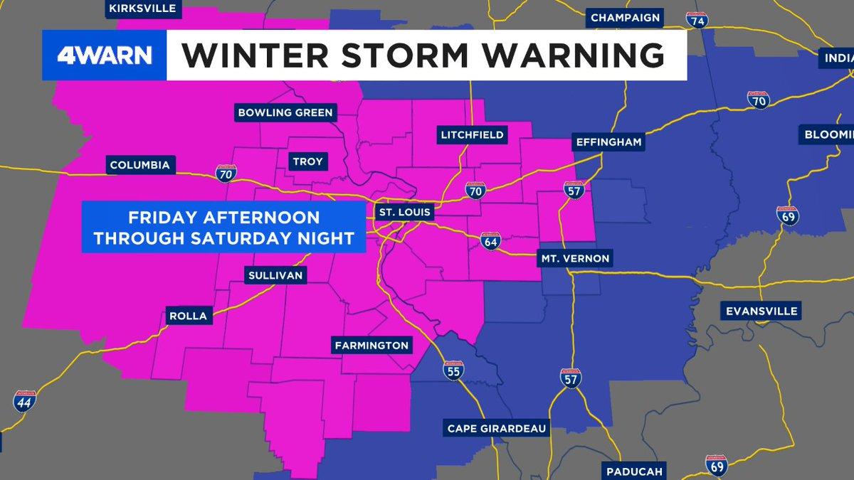 Steve Templeton KMOV's photo on Winter Storm Warning
