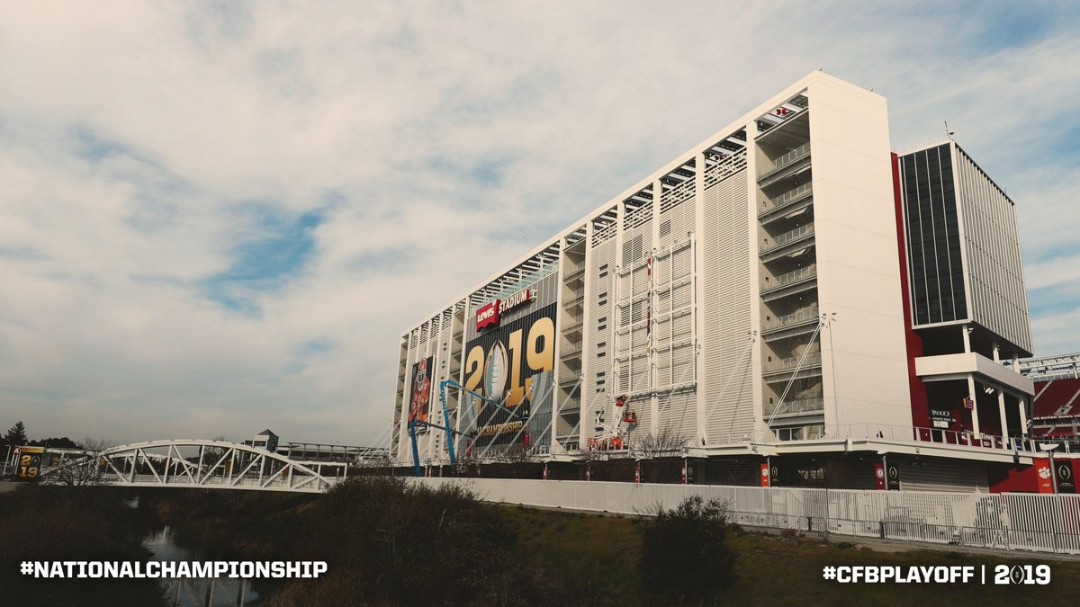 Time flies. 😮 Throwback to one week ago when we were setting up for the #CFBPlayoff #NationalChampionship