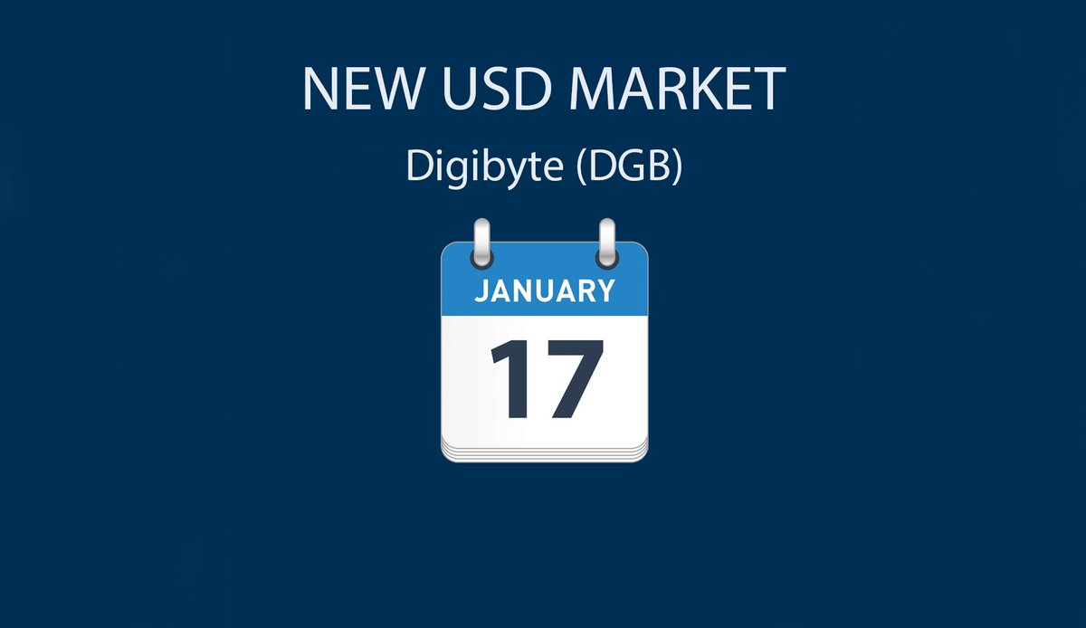 On January 17, we're launching a US dollar (USD) market for Digibyte (DGB). Eligible Bittrex accounts are auto enabled for USD trading. Those wanting to deposit/withdraw US Dollars via wire should submit an application here:  https:// support.bittrex.com/hc/en-us/reque sts/new?ticket_form_id=360000047992 &nbsp; …  #DGB #Bittrex<br>http://pic.twitter.com/1w3yYgaKsU