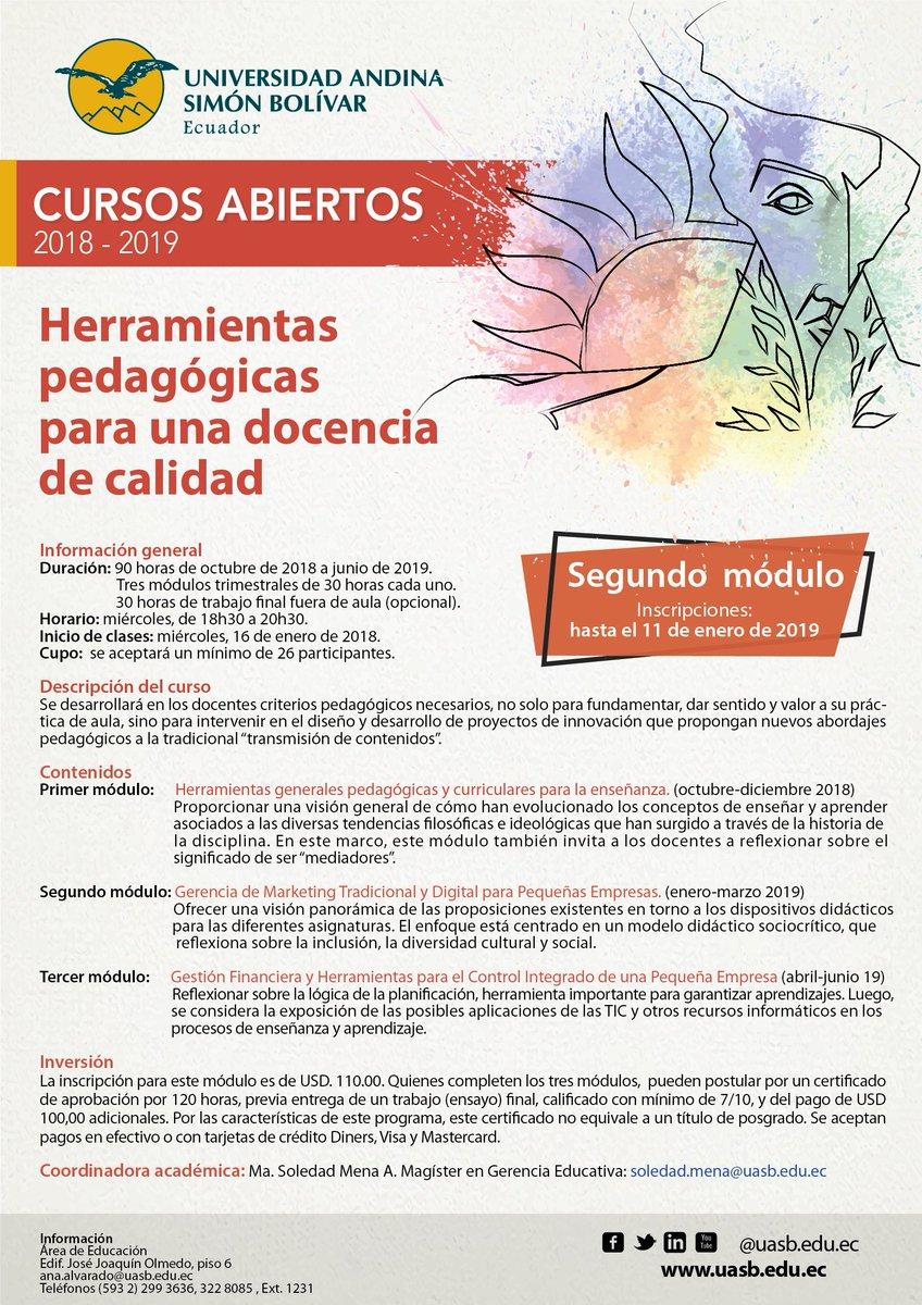 ο χρήστης Universidad Andina στο Twitter