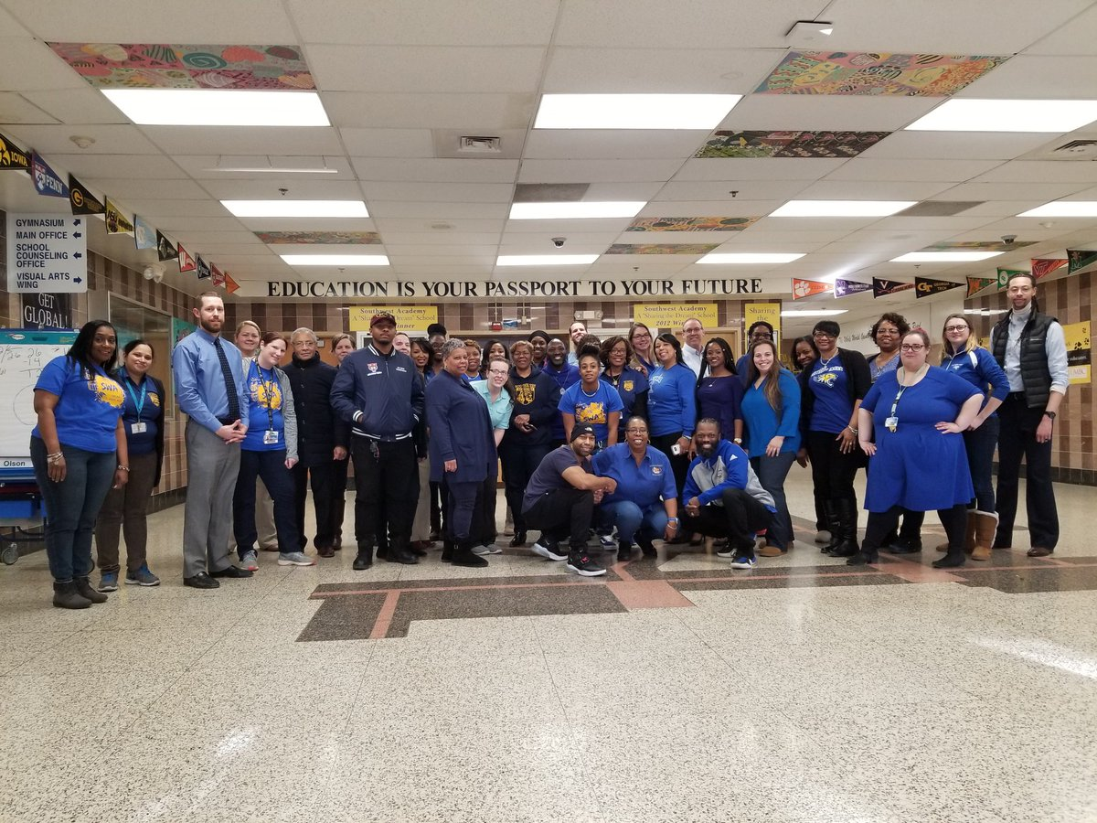 #BCPSblue #TEAMBCPS Staff at SWA is pround to be in blue today, for Team BCPS!