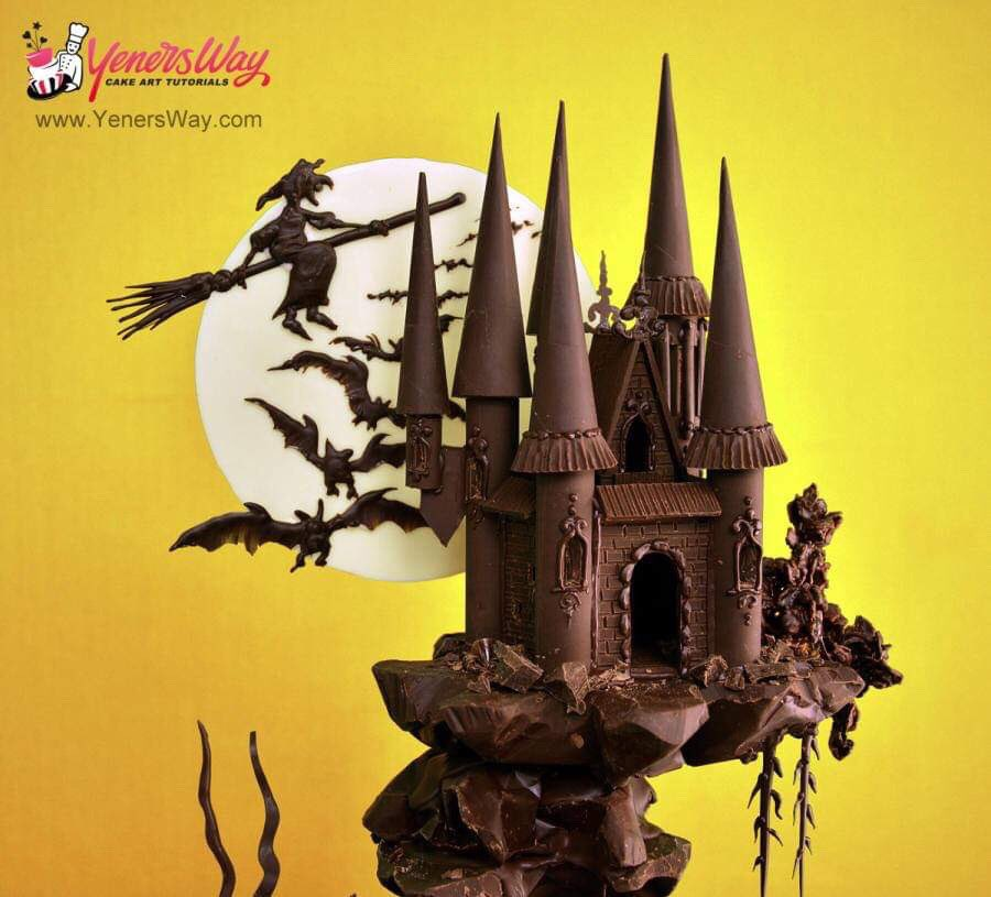 Chocolate HAUNTED CASTLE by Yeners Way. #GhastlyGastronomy <br>http://pic.twitter.com/cCDQO2dwyE
