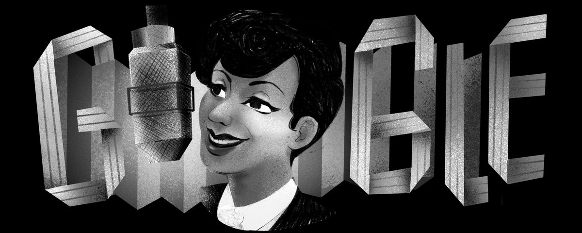 A #GoogleDoodle for British entertainer &amp;  Evelyn Dove, who persevered to build a career that took her everywhere from BBC Radio to Buckingham Palace !  Learn more about the barrier-breaking singer →  http:// goo.gl/tDodno  &nbsp;  <br>http://pic.twitter.com/l1OBjNEdQ8