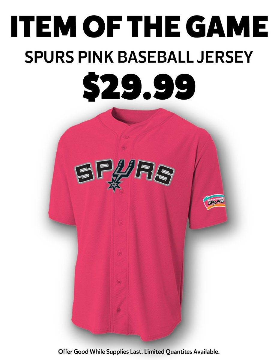 8861f649966 ... low cost san antonio spurs on twitter todays item of the game spurs  pink baseball jersey