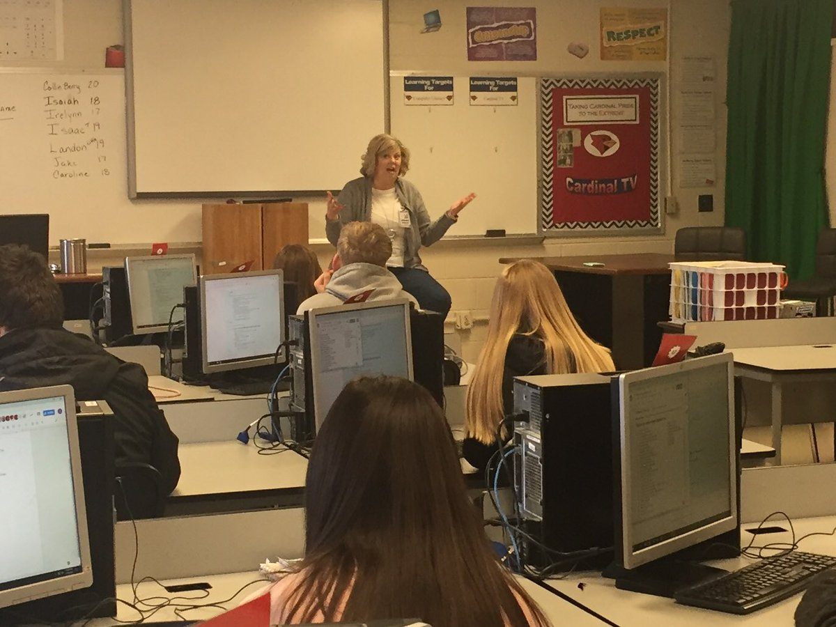Thank you to Ms. Paschall for joining our class today! The students enjoyed her impromptu speech. 👏🏼 @CMSCardinals