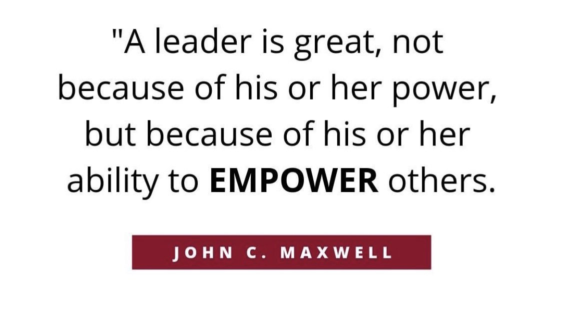 Think of the great leaders you've had in your life. What made them great? Was it their power and status, or was it their ability to inspire and empower others? #edchat #ThursdayThoughts <br>http://pic.twitter.com/1ioW3ZNl1F