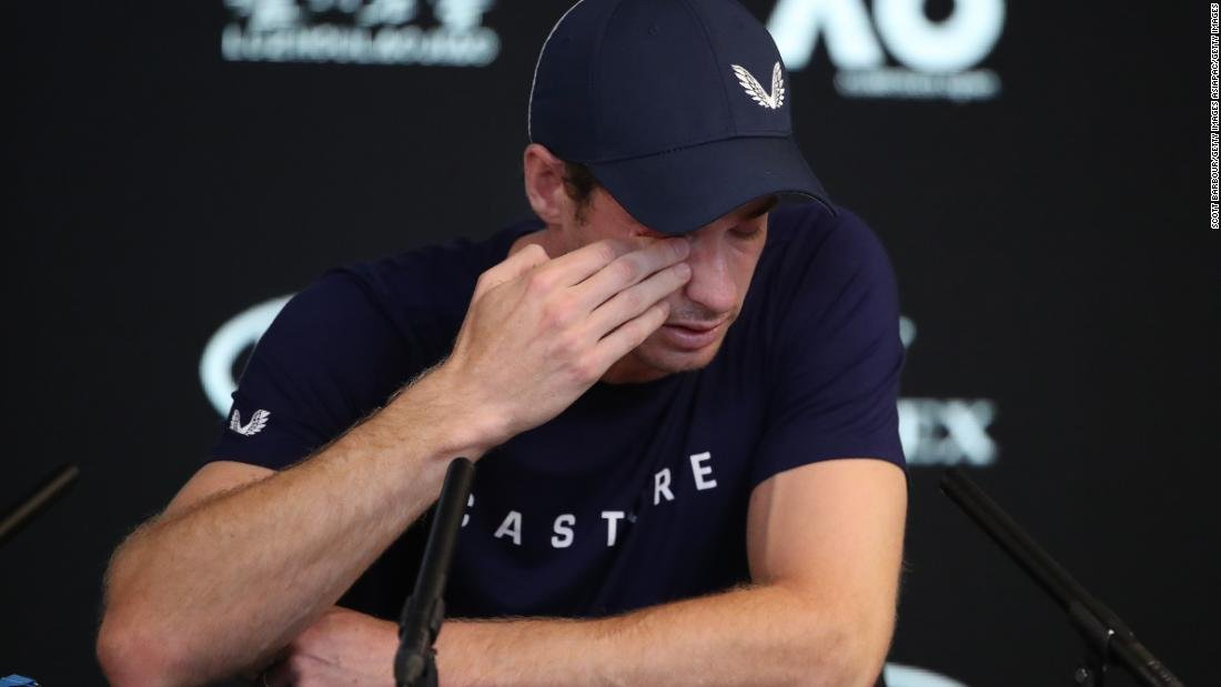 Hindered by a hip injury, British tennis great Andy Murray announced that he plans to retire at Wimbledon -- at the latest -- in an emotional press conference ahead of the Australian Open https://t.co/UKt6F9KJwE