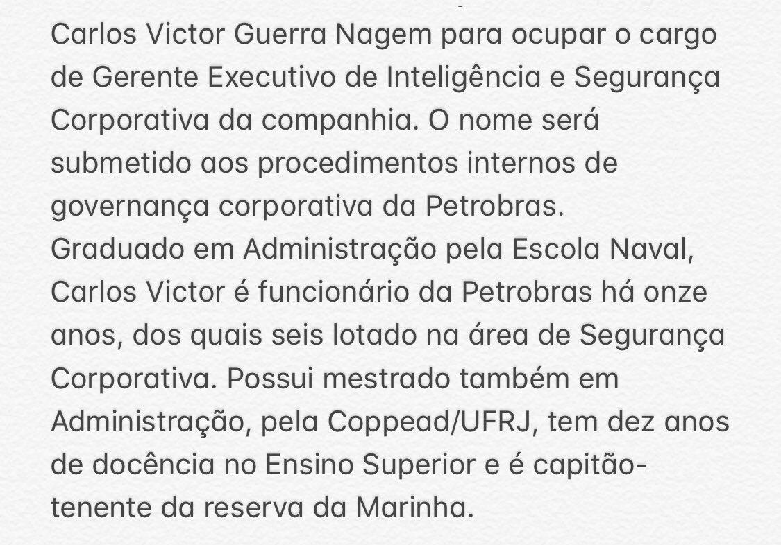 Jair M. Bolsonaro's photo on Segurança da Petrobras