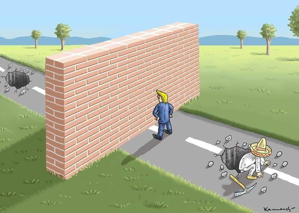 Yup. There's been tunnels dug for decades, and that's WITHOUT a wall. So why would it stop WITH a wall? #TrumpShutdown #TrumpWall  #MexicoWillPay #MexicoWillPayForIt #MexicoWillPayForTheWall<br>http://pic.twitter.com/EilSRgrfv5