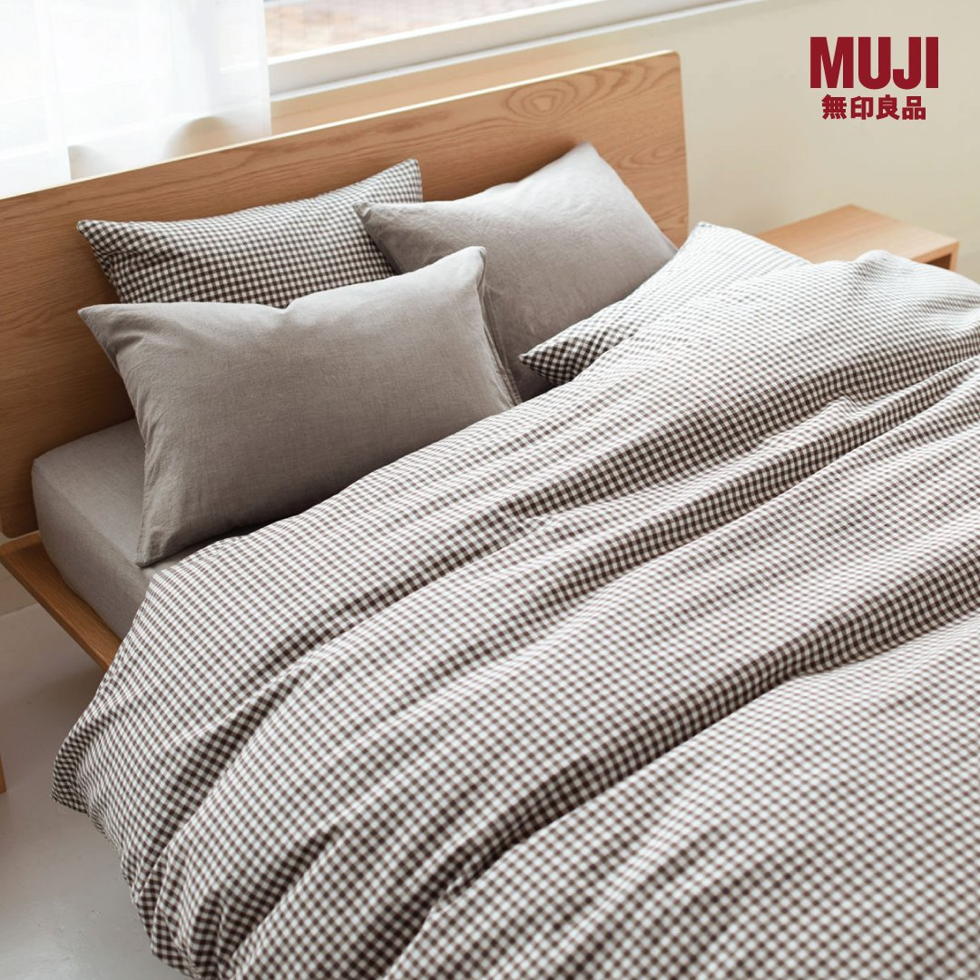 Grand Indonesia On Twitter Muji Bed Linen Is Made Of High Quality Material A Soft Touch That Invites You To A Pleasant Sleep Enjoy 10 Off For Muji Fitted Sheet Duvet Cover