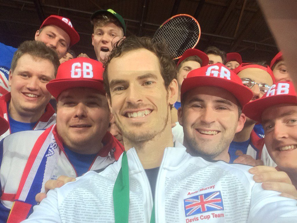 Thanks for the memories @andy_murray #WorldChampions #DavisCup