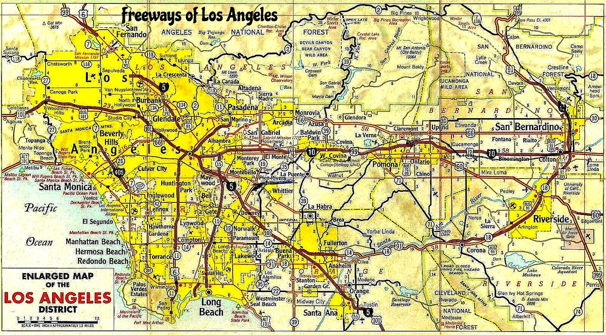 "Freeways of Los Angeles ar Twitter: ""For those of you who ... on interstate i-10 map, interstate 210 california map, us highway 10 map,"