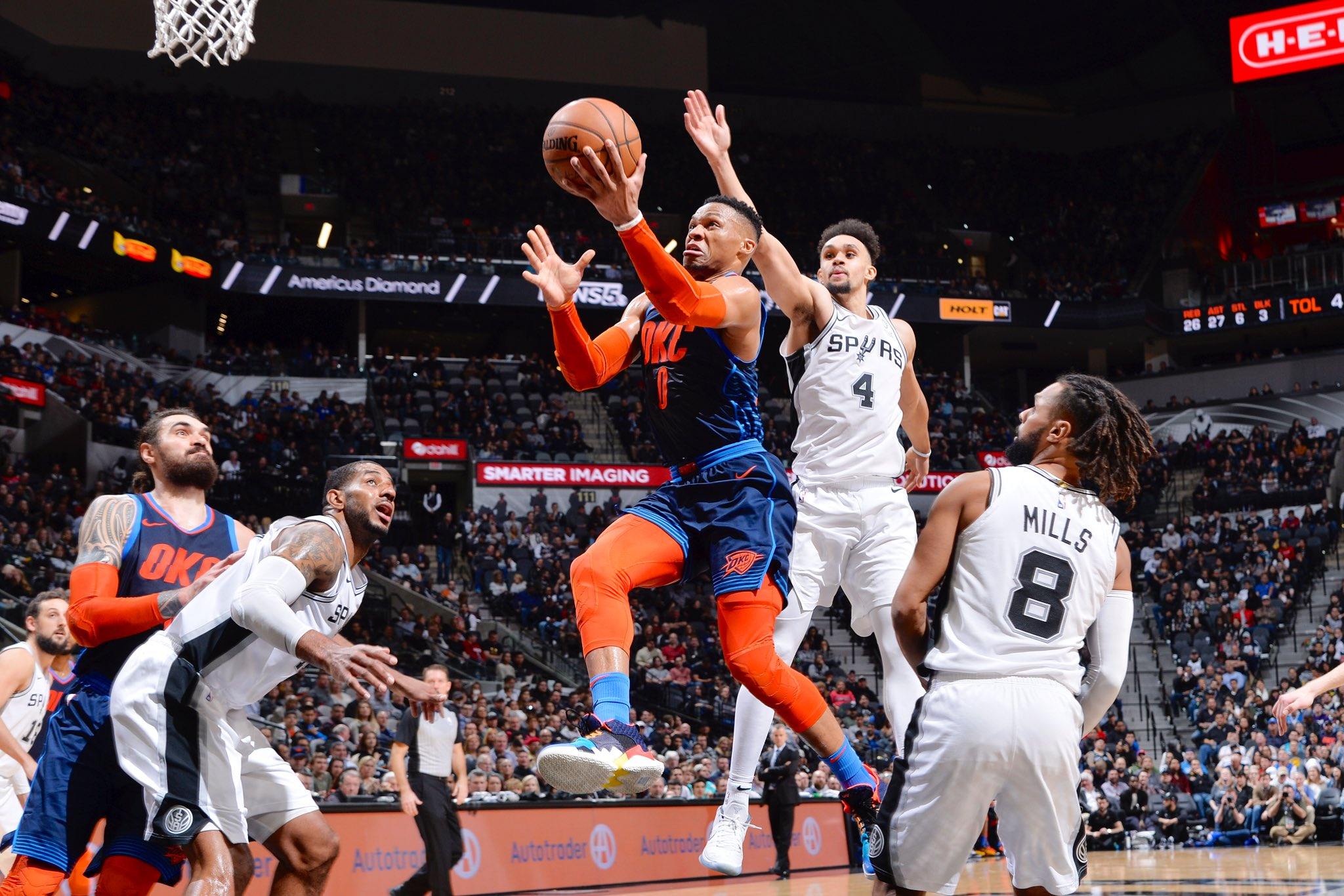22 PTS. 9 REB. 16 AST. #TripleDoubleWatch   #ThunderUp 114 #GoSpursGo 114  5:56 remaining in @NBAonTNT https://t.co/vGUuCeJFeY