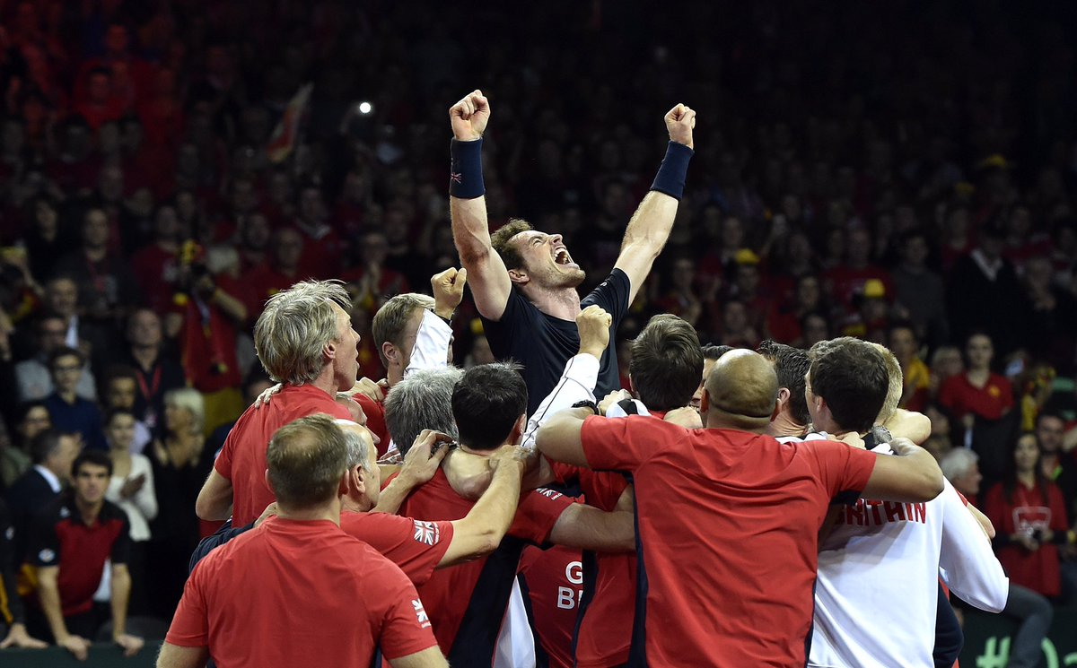 With you on your best moments, with you on the tough ones. Stay strong @andy_murray   🏆 #DavisCupMadridFinals