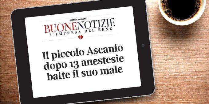 """Una storia a lieto fine di buona sanità italiana"""". È quella di Ascanio, cintura nera di coraggio @Corriere_Salute #buongiorno #11gennaio Photo"""