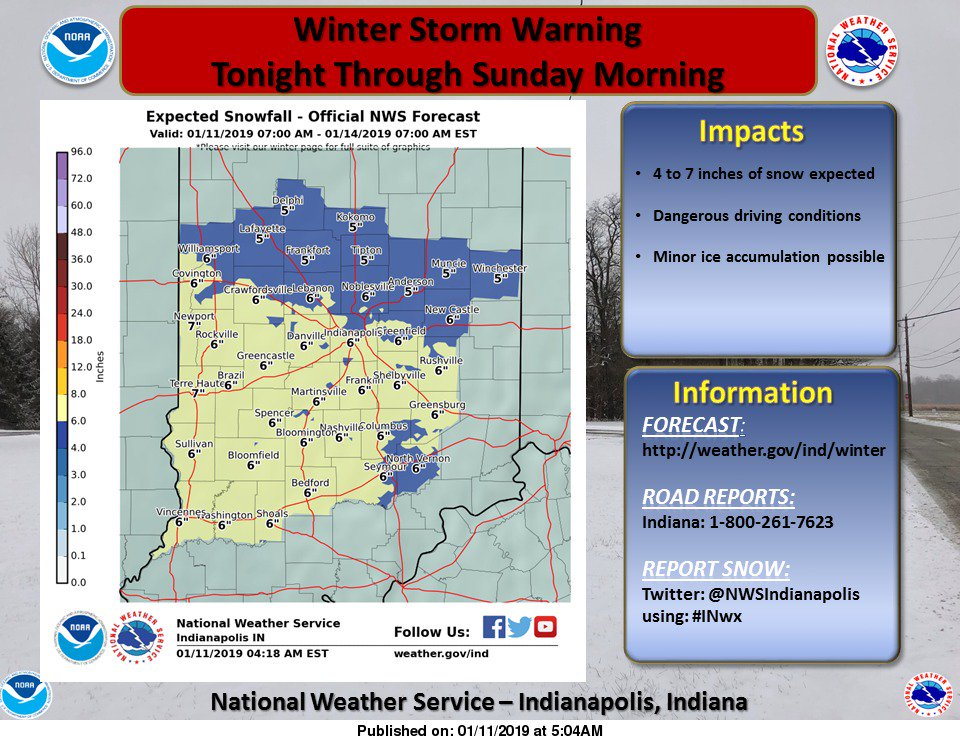 NWS Indianapolis's photo on Winter Storm Warning