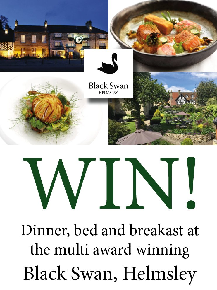 RT and tag a pal!!  WIN DINNER BED AND BREAKFAST AT THE MULTI AWARD WINNING @BlackSwanHotel IN HELMSLEY!!!!  #Competition #FridayFeels #FridayMotivation  WINNER ANNOUNCED FRIDAY 18TH  - GO GO GO <br>http://pic.twitter.com/2GlcDcTNX4
