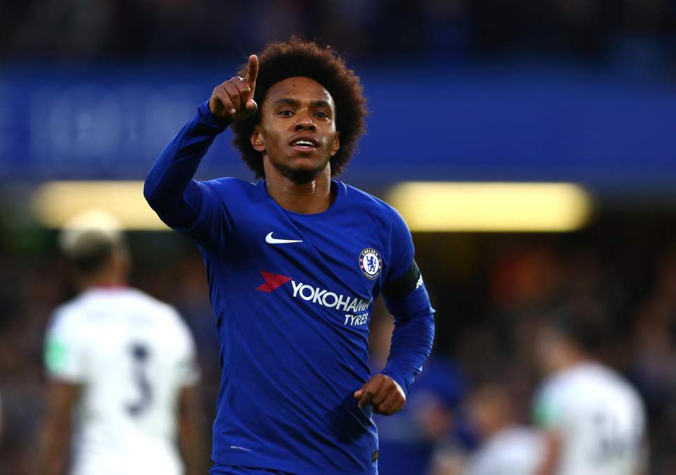 Simon Johnson has confirmed that Chelsea have rejected Barcelona's offer of £25m + Malcolm for Willian.   He states Chelsea want straight cash for the player. Willian is interested in the move.  Willian out, get the cash, Hudson-Odoi starts. Simple.