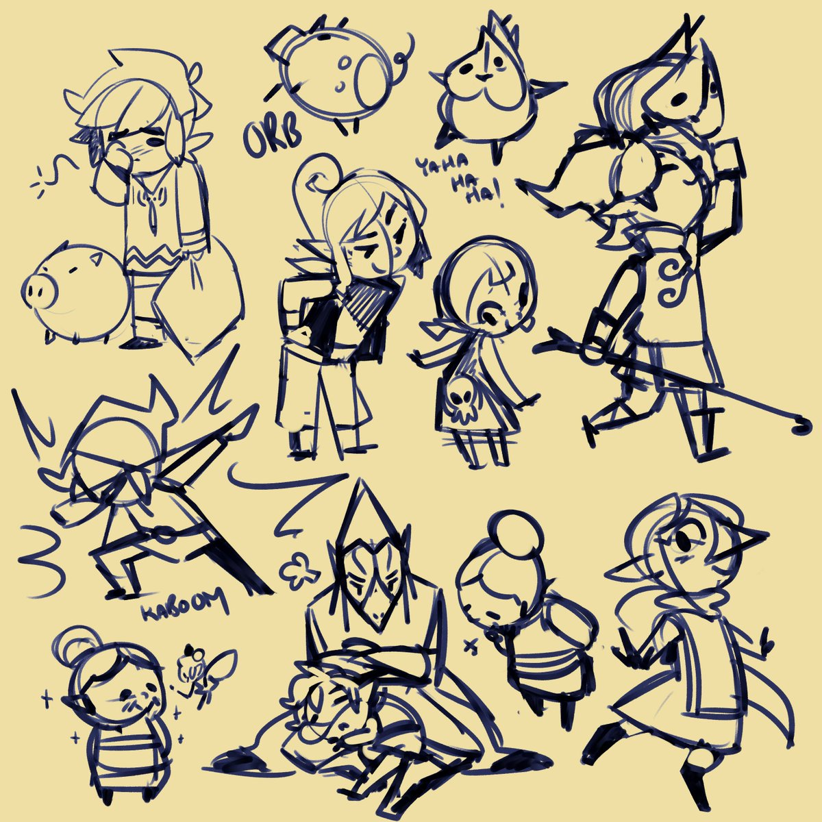 welp I think i should sleep but I was too tired to do much more than  doodle for the Wind Waker run. May do something with these?   #windwaker #loz #LegendofZelda @GamesDoneQuick<br>http://pic.twitter.com/RQqyWwytkE