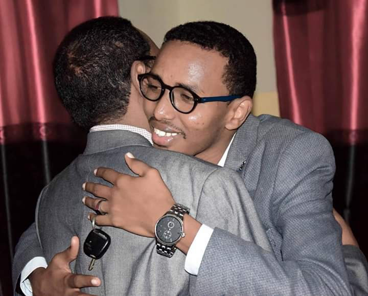 My dear father welcome to somalia After long time