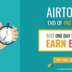 Image for the Tweet beginning: Airtoto End Of Pre Sale