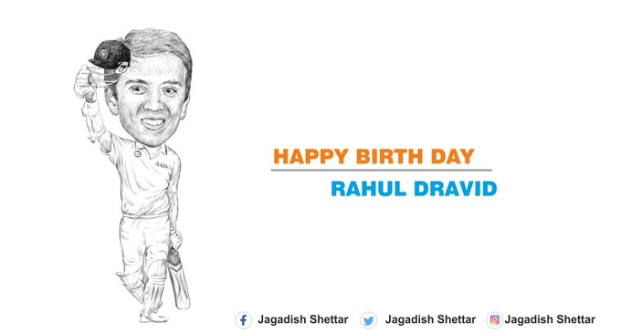 Happy Birthday to the \Wall of Indian Cricket\ Rahul Dravid!