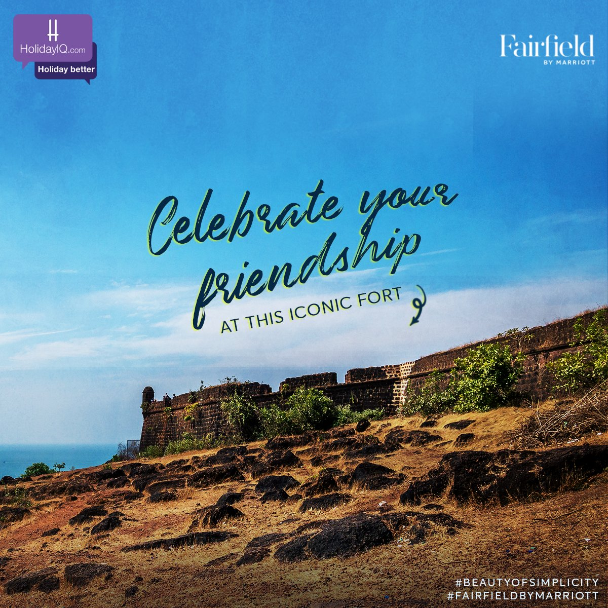 Looking for a place to get lost at with your friends? Fort Chapora in Goa is your answer!  Watch this space to know more.  #BeautyOfSimplicity #FairfieldByMarriott #holidayiq #holidayiqcommunity  @fairfieldanjuna https://t.co/d03eRHeX53