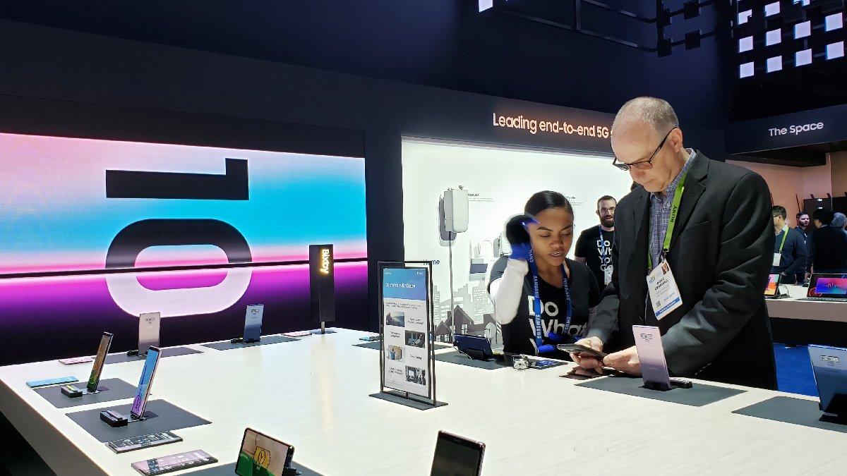 Get hands-on with our latest mobile offerings as you explore the future of connected living at #CES2019.
