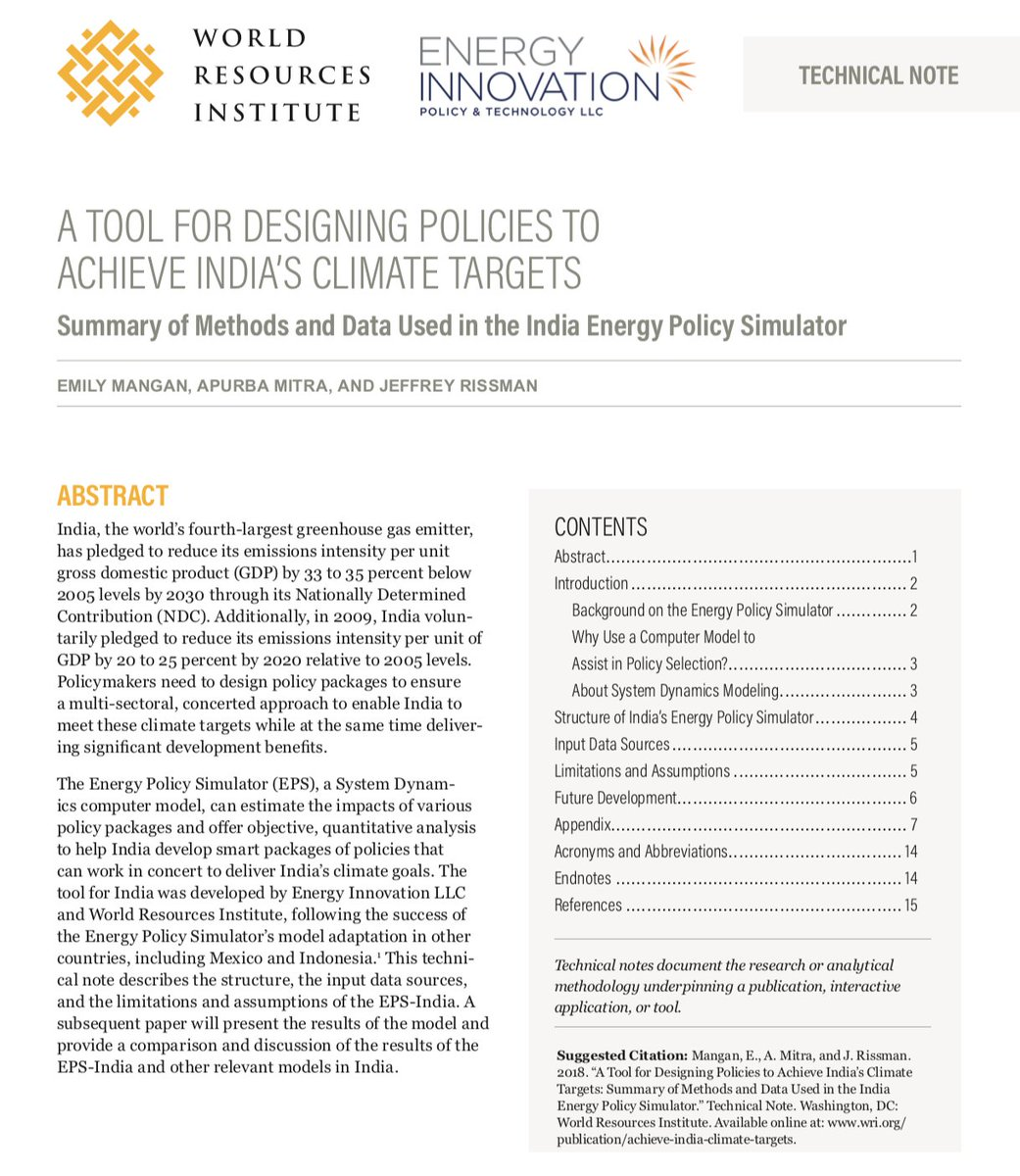 Wri India On Twitter India S Energy Policy Simulator Can Estimate The Impacts Of Various Policy Packages And Offer Objective Quantitative Analysis To Design Smart Policies For Achieving The Country S Climate Targets Read