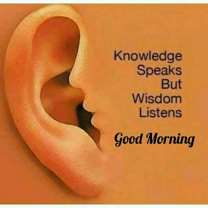 Talk less and listen more, it is always important to understand before making a comment #FridayMotivation Photo