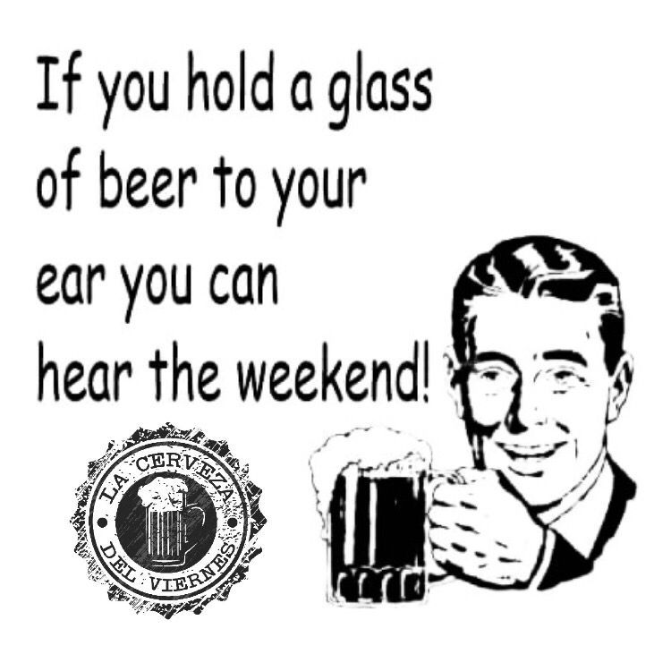 Friday!! If you hold a glass of beer to your ear you can hear the weekend!  #beer #goodFriday #weekend #cerveza #buenViernes #FelizFinde  @Laura170178 @ourworldofbeer @davpolrob @Taxini21 @kaluapiscis @silvercius @_Rafastur_ @amcb96 @cuerdodeatar @ManvsAle @wolv54b1 @beerhunter74<br>http://pic.twitter.com/ukq7cPVUiG
