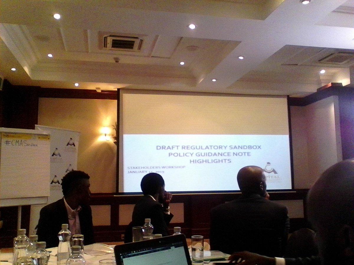 We are represented at the stakeholders consultation workshop on the draft regulatory SandBox Policy Guidance Note (PGN) @CMAKenya  @NEMofficial @LaikipiaHub #cmasandbox