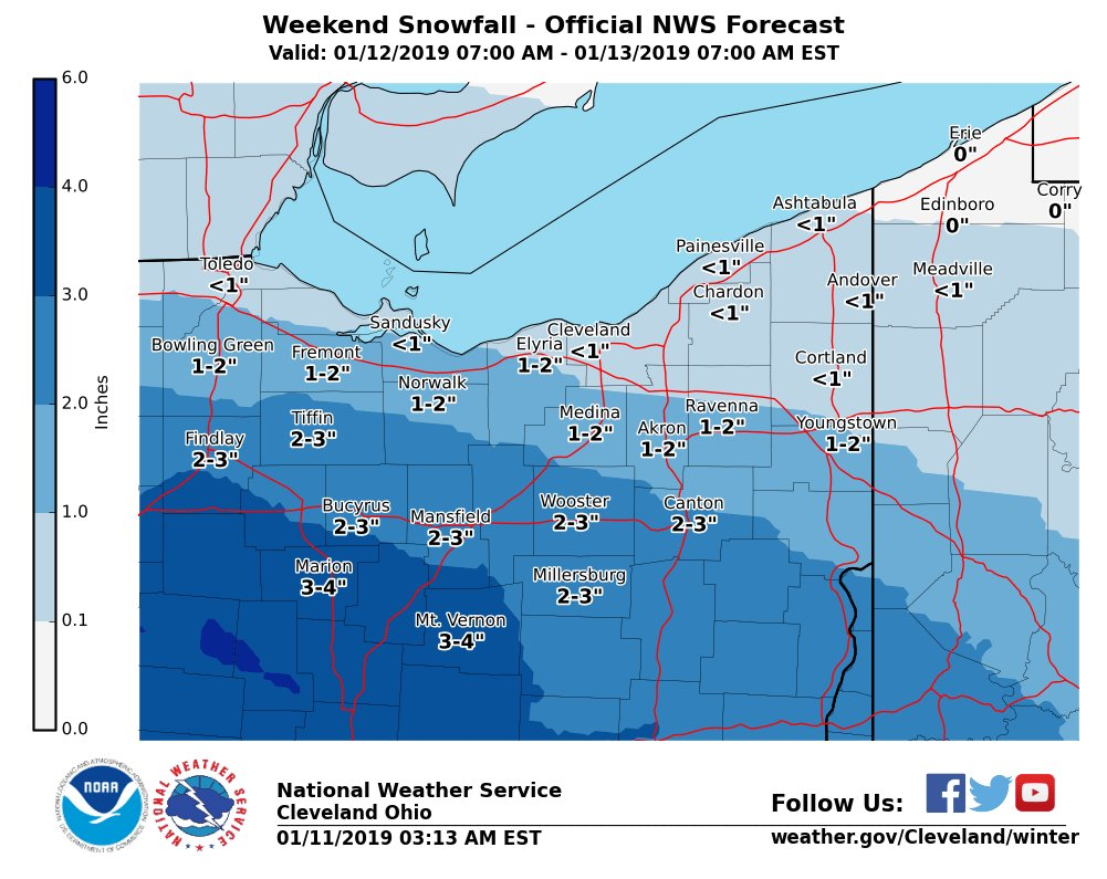 I 80 Ohio Map.Nws Cleveland On Twitter Nwscle Tracking More Snow For The