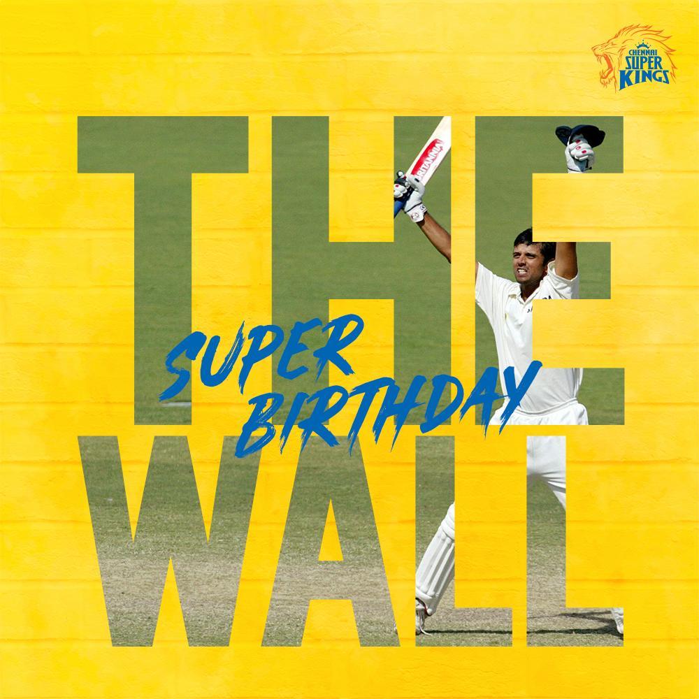 Chennai Super Kings's photo on #happybirthdayrahuldravid
