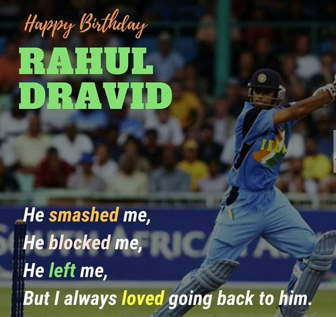 Via WhatsApp: courtesy Rajesh Jayaram So said a Cricket Ball 🙂  #HappyBirthdayRahulDravid #HappyBirthdayDravid Photo