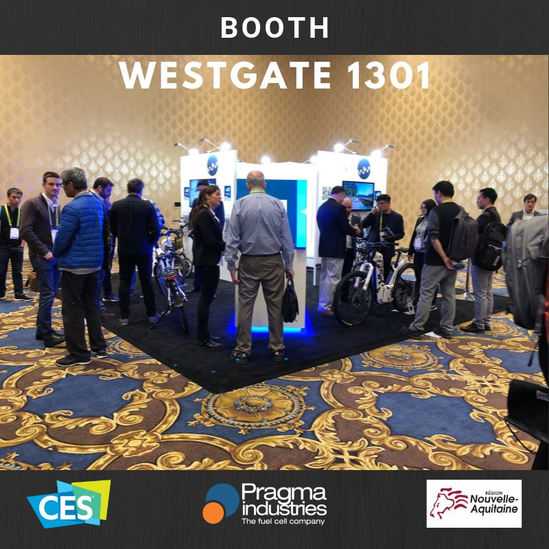 Hurry up ! Last day to come and discover our #fuelcell technology applied to #H2bike market, awarded at the Las Vegas @CES 2019 Wesgate:Booth 1301 Smart cities #Frenchtech #TeamNAqui #H2Now #smartcity #award #cleantech #greentech #hydrogen  #newmobility #ces2019 #Sustainability