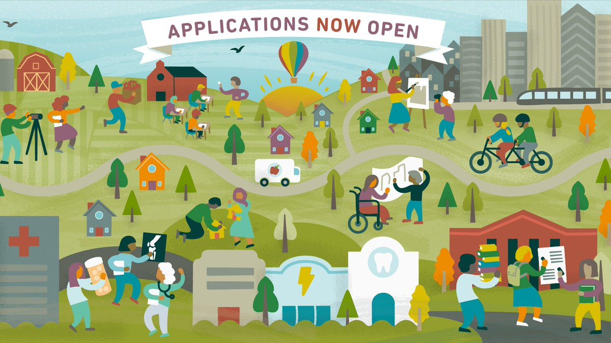 Apps now open for #ClinicalScholars, @IRLeaders & @CultureofHlthLd leadership programs supported by @RWJF that connect participants across sectors and backgrounds to make communities healthier and more equitable. Want to join our next cohort? Apply now: https://rwjf.ws/2AibibP
