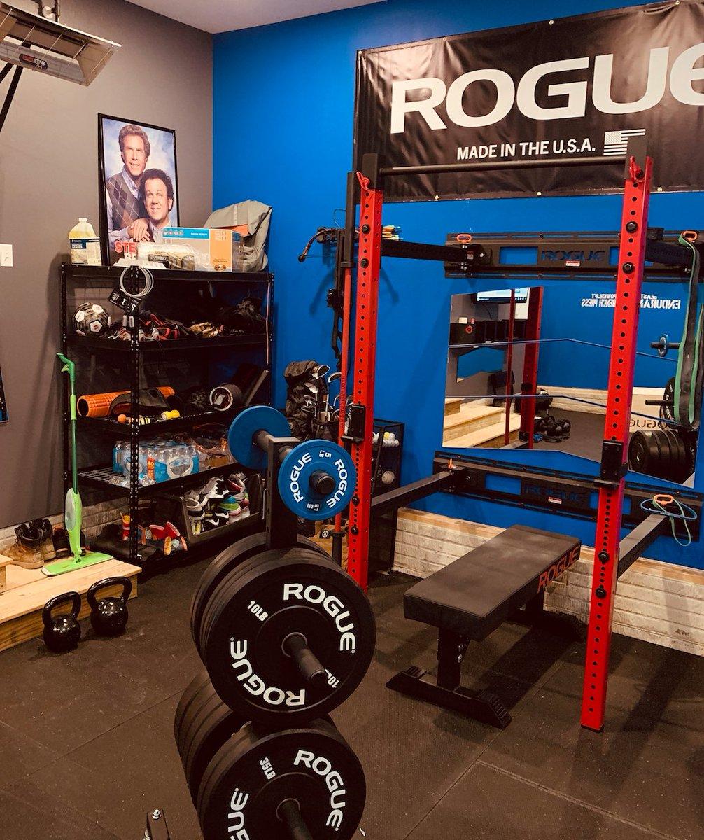 Garage gym courtesy of charley nell fold back rack: tweet added by