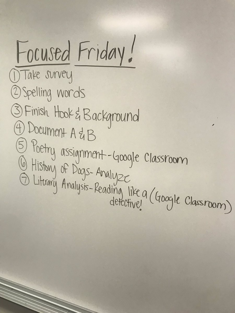 Focused Friday, off to a great start! Students work at their own pace, and time for small group instruction. #RainwaterRocks @CFBRainwater