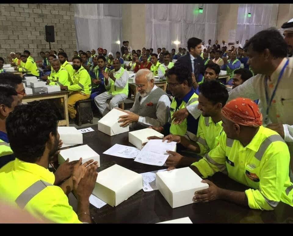 Pic 1 - Modi in Dubai Pic 2 - Rahul Gandhi in Dubai  Picture speaks for itself...