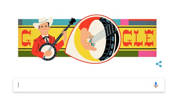 We&#39;re happy to celebrate Earl Scruggs any day of the week. But his birthday was January 6...so we&#39;re offering Reverb swag to the person who gives us the most logical explanation for why he&#39;s today&#39;s #GoogleDoodle.<br>http://pic.twitter.com/YD6i7WzvfG