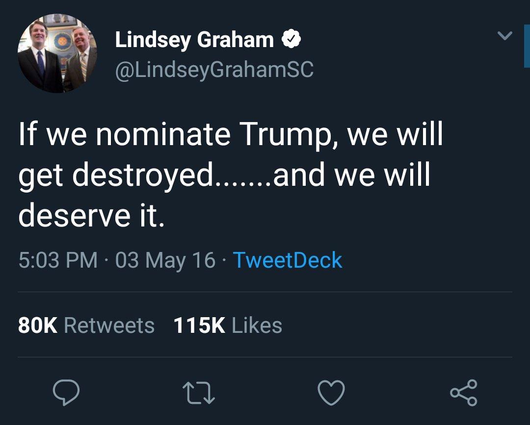 @LindseyGrahamSC @realDonaldTrump  #LindseyGraham Was Correct