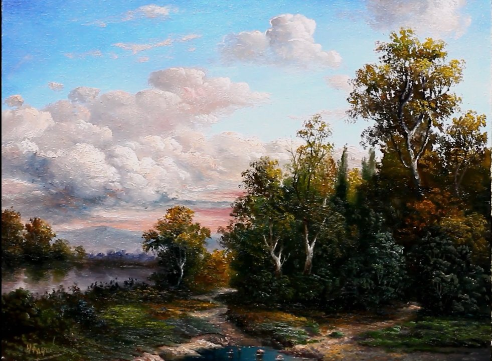 Cloudy Sky Landscape Oil Painting By Yasser Fayad https://t.co/N9IqvVT1ta https://t.co/AMhNNHyIyt
