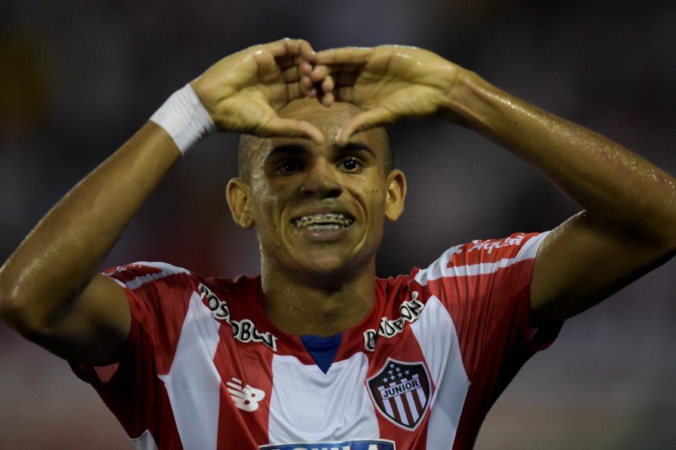 Boca in English's photo on Luis Diaz