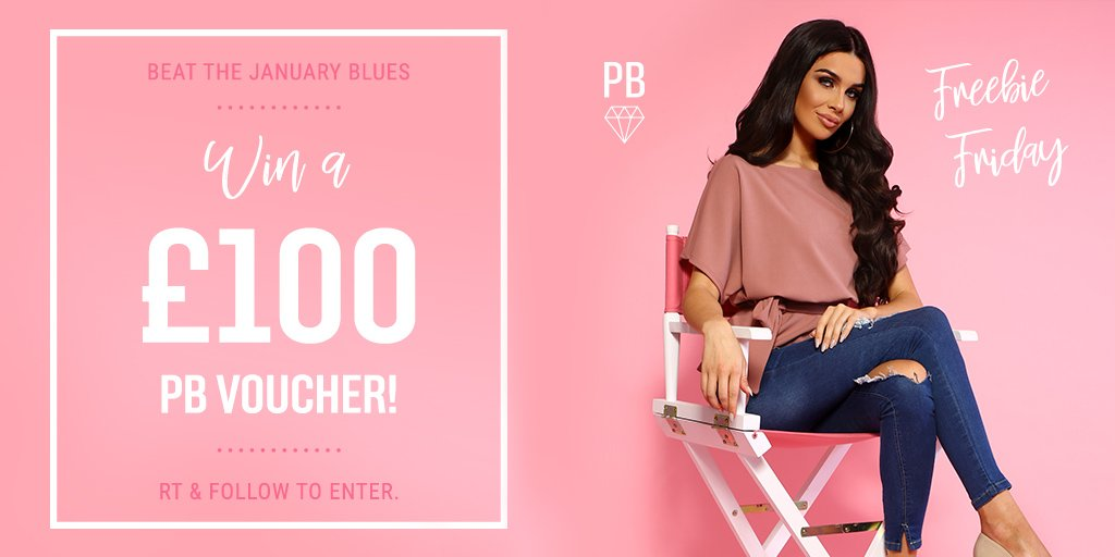 HAPPY #FREEBIEFRIDAY!  Wanna win a £100 PB voucher? RT and FOLLOW @PinkBoutiqueUK for a chance to win! ONE winner chosen at random on 31.01.19 Ts and Cs apply <br>http://pic.twitter.com/6F4MWGL384