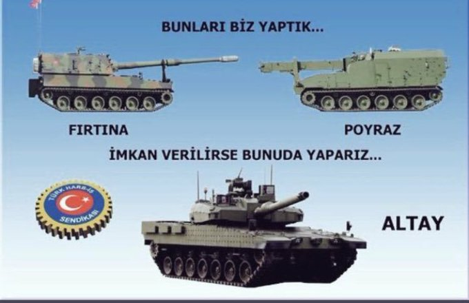 #TankPaletTürkiyedir Fırtınayı poyrazı yaptık 7 yıldan beri yalvarıyoruz Altayı da yerli ve milli olarak Türk işçisi Türk mühendisi yapsın. Sonuç hepsi yabancı ellerin oluyor. Askeri fab. Ve tersaneler özelleşemez Photo