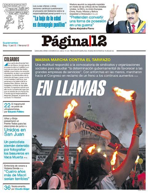 Página 12's photo on en llamas